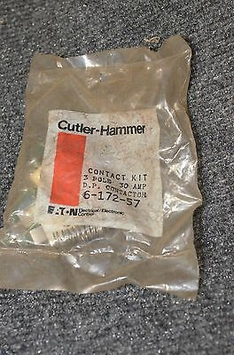Cutler-Hammer Contact Kit, 6-172-57,3 pole, 30 AMP contactor