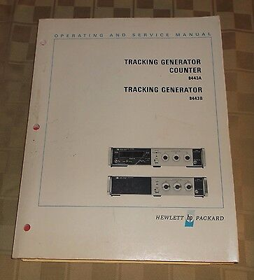Hewlett Packard HP Operating & Service Manual Tracking Generator Counter 8443A B