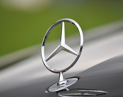 Mercedes Benz Logo Front Hood Ornament Chrome Finished Emblem for C E S Series