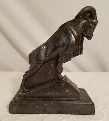 Max Le Verrier Unsigned Art Deco Figure - 'Mouflon': Mountain Ram circa 1930