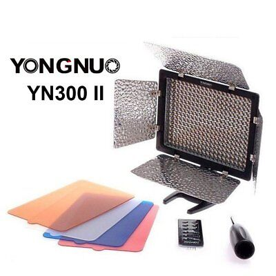 Yongnuo YN300 II 3200-5500k Pro LED Video Studio Light for Canon Nikon Camera US