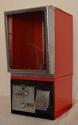 """CLEAN Vintage Victor """"77"""" 25c Toy Prize Gumball Vending Machine *LOCKED OUT*"""