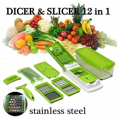 12 in 1 Vegetable Fruit Multi Peeler Cutter kitchen Cooking Tool Cook Utensils