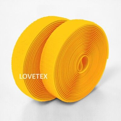 16/25/50/102mm Sew on Hook and Loop Fastener Tape Color Yellow