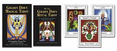 Golden Dawn Magical Tarot A Complete Tarot Set by Chic Cicero 9780738723396