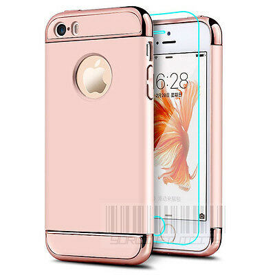 Luxury Shockproof Ultra-thin Case For Apple Armor Hard Back Cover Electroplate