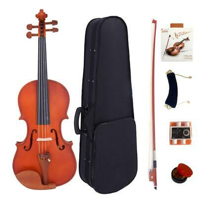 4/4 Full Size High Grade Maple Matt Acoustic Violin Fiddle Set Christmas Gifts