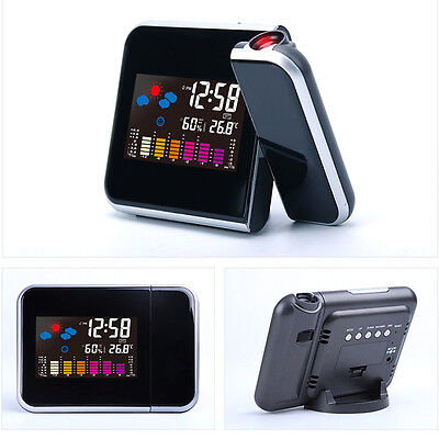 Digital Weather LCD Silent Snooze Backlight Table Desk Snooze w/ LED Alarm Clock