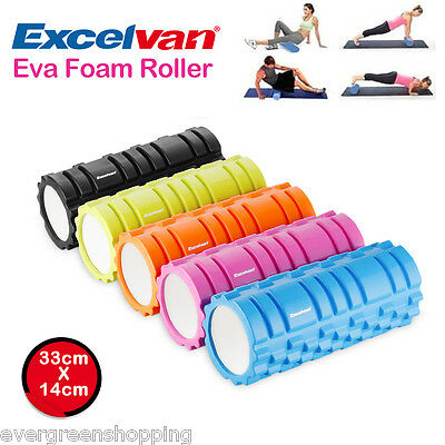 Yoga Foam EVA Roller Trigger Point Textured Pilates Physio Massage GYM Exercise