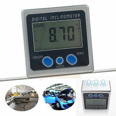 Digital LCD Box Gauge Angle Protractor Level Inclinometer Magnetic Base 0-360°