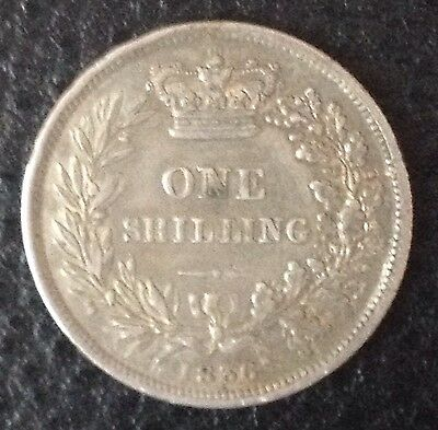 1836 William IV Milled Silver Shilling Coin