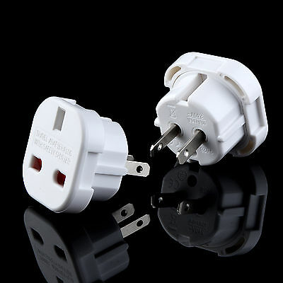 1/3/5X Uk To Usa Us America Australia  Tourist Travel Plug Power Adaptor