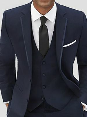 New Wedding Groom Tuxedos Groomsmen Best Man Suit Business Party Tuxedo Custom