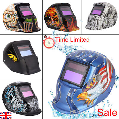 Auto Darkening Welding Helmet Welders Tig Mig Grinding Solar Powered Free Post A