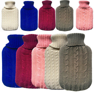 Large Knitted Hot Water Bag Bottle 2000ml Cover Case Heat Warm Keeping Coldproof