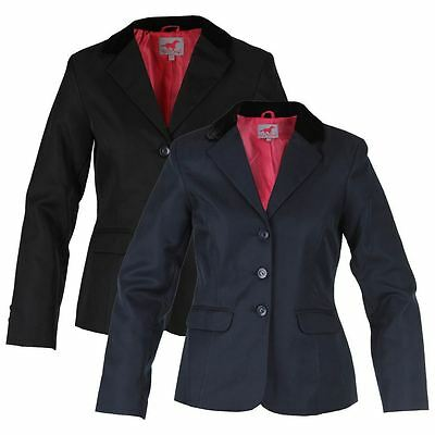 Red Horse Junior Girls Hippique Comfort Show Jumping Riding Competition Jacket