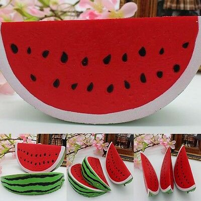 New Soft Watermelon Areedy Squishy Fruit Slow Rising Simulation Bread Toy Gifts