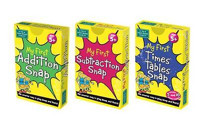 KS1 Maths Set - My First Addition Subtraction & Times Table Snap Card Games