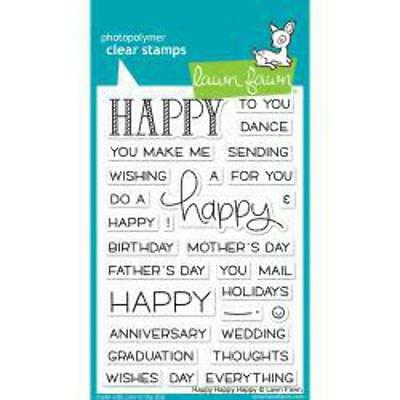 "Lawn Fawn - Clear Stamps - 4""x6"" Happy Happy Happy"
