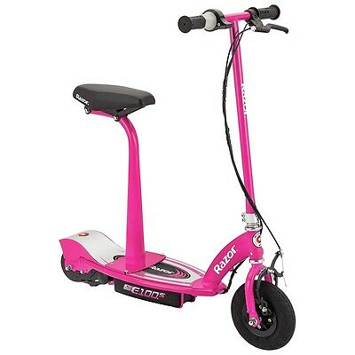 Razor E100S Electric Scooter With Seat - Pink - Free 90 Day Guarantee