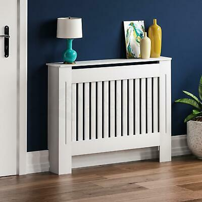 Chelsea Radiator Cover Medium MDF Modern White Slat Heating Grill Guard