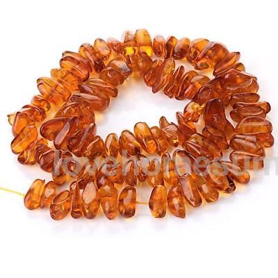 7mm x 13mm Honey Brown Amber Irregular Chip Loose Beads Jewelry Findings