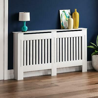 Chelsea Radiator Cover Large MDF Modern White Slat Heating Grill Guard