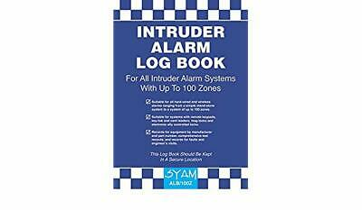 Intruder Alarm Log Book ALB/100Z Syam Suitable for Hard Wired & Wireless