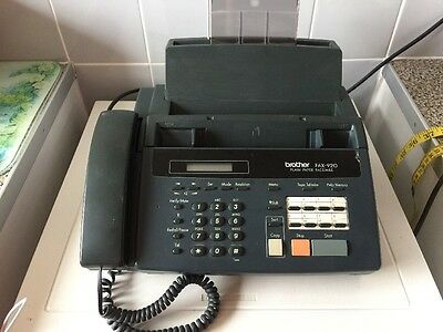 BROTHER PERSONAL FAX 920 FACSIMILE, COPY MACHINE & PHONE PAT Tested