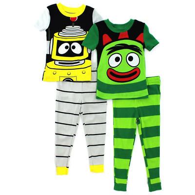 Yo Gabba Gabba 4 piece Cotton Pajamas Set (Toddler/Little Kid)