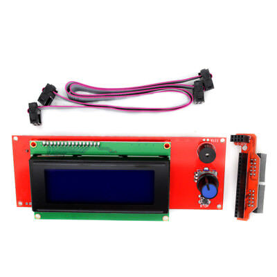 New 2004 LCD Display Smart Controller W/ Adapter For RAMPS1.4 Reprap 3D Printer