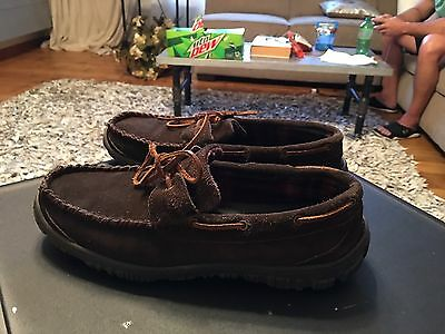 Clarks Brown Suede Slipper Shoes Men's Size 11