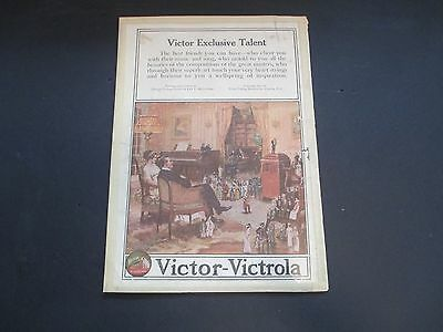 Victor-Victrola Exclusive Talent Book/Magazine Page Advertisement Vintage - Rare