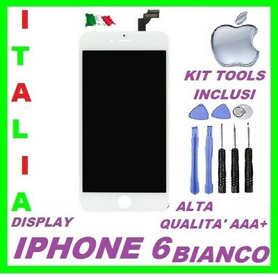 Touch Screen + Lcd Display Retina +Frame Per Apple Iphone 6 Nero Vetro Schermo