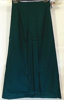 Scoil Carmel Girls School Uniform Dark Green Full Length Skirt Size 8 Pleated