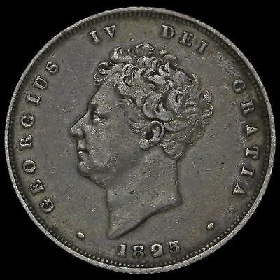 1825 George IV Bare Head Milled Silver Shilling – VF