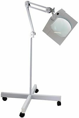 SUPER-WIDE LENS, Long Reach, Articulated, Floor Stand, LED Magnifier, 2.25X(5D)