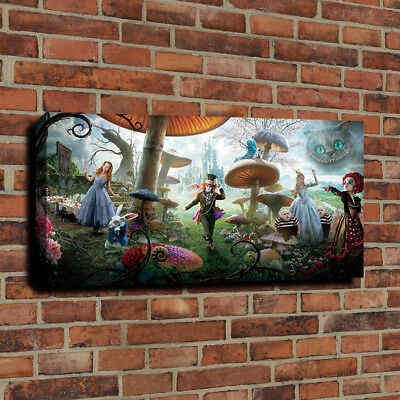 HD Print Alice In Wonderland Wall Decor Art Painting on Canvas 16x32 Pictures