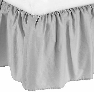American Baby Company Percale Mini Crib Skirt Dust Ruffle, Gray, 100% Cotton