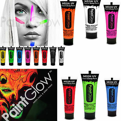 Paintglow UV Neon Glow Face Paint Body Paint Glows Fluorescent 10ml x 1 tube