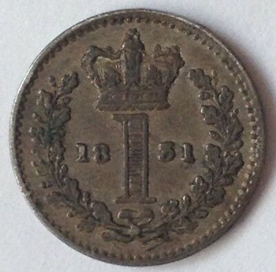 1831 William IV Maundy Penny Silver Coin