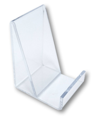 10 Clear Acrylic Flat Merchandise Display Easel Stand Vertical Card Holders