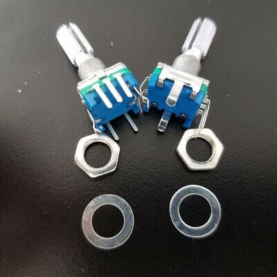 2x  CODIFICADOR ROTATORIO CON SWITCH EJE PULSADOR EC/11 - ROTARY ENCODER