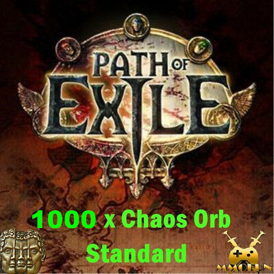 1000 x Chaos Orb Path of Exile PoE Item / Currency Standard League Softcore SC