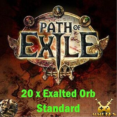 20 x Exalted Orb Path of Exile PoE Harbinger / Standard League Softcore SC EU/NA