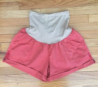 Oh Baby By Motherhood Maternity Shorts Size XL, Coral/Orange