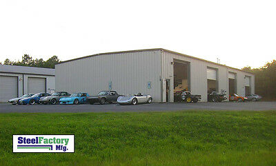 Steel Factory Mfg 40x60x14 Metal Frame I-beam Workshop Storage Garage Building