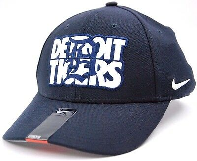the best attitude 918bf f5cc7 Detroit Tigers Nike Verbiage Legacy 91 Swooshflex MLB Baseball Cap Hat