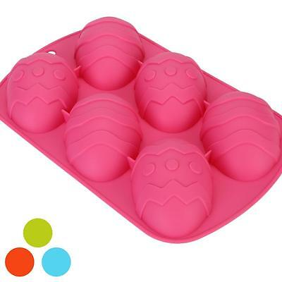 Easter Egg Shape Silicone Moulds Ideal For Chocolate Cakes Dough Ice Cubes