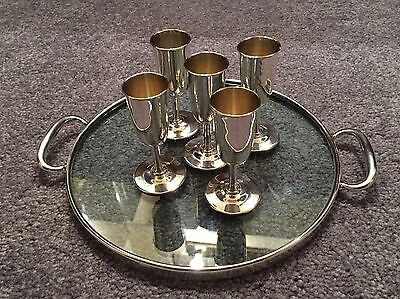 5 Vintage Webster Sterling silver Cordial Set with Tray